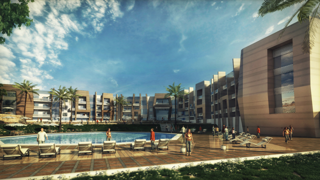 Royal Meadows Project Commercial Area Sheikh Zayed 6th Of October City Egypt
